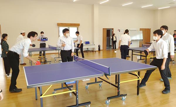 NPシステム開発_社内の卓球大会